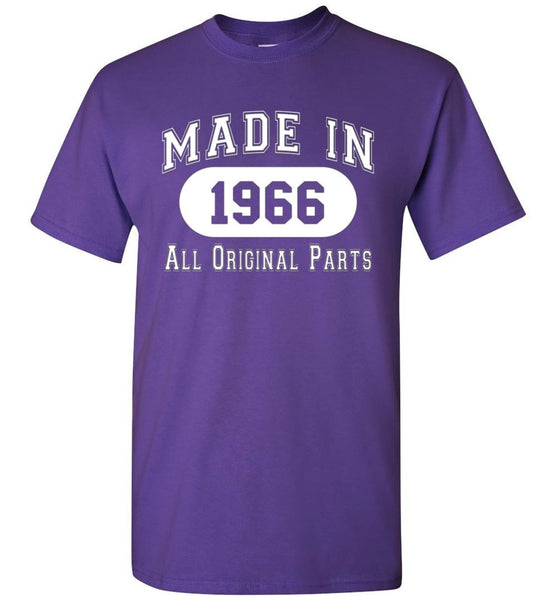 50th Birthday Gift Made in 1966 All Original Parts T-Shirt - white ink - What Are These? - 7