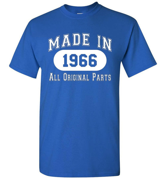 50th Birthday Gift Made in 1966 All Original Parts T-Shirt - white ink - What Are These? - 9