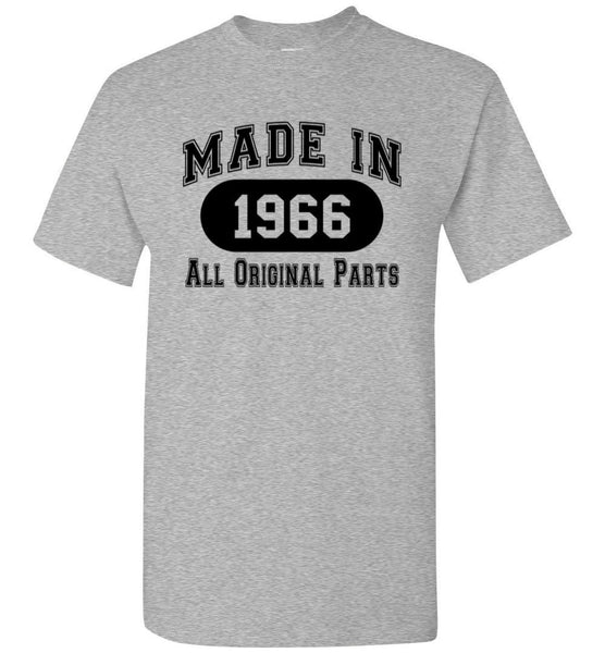 50th Birthday Gift Made in 1966 All Original Parts T-Shirt - white ink - What Are These? - 20