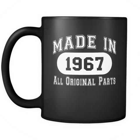 50th Birthday Gift Made in 1967 - All Original Parts Mug