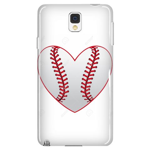 Baseball Heart Phone Case - Samsung Galaxy s3 s4 Note - Apple iPhone 5 6 plus - What Are These? - 1