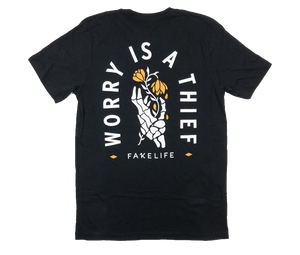 Worry Is A Thief BLACK Unisex Tee