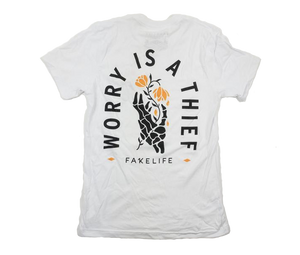 Worry Is A Thief WHITE Unisex Tee
