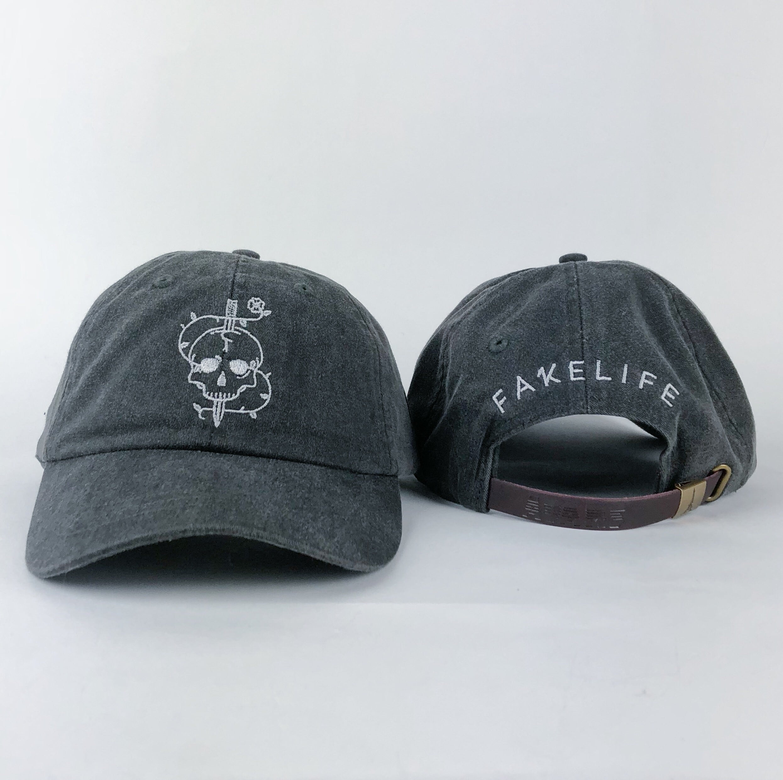 """Death & Life"" Charcoal Dad hat"