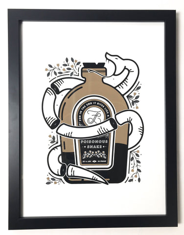 Poisonous Snake Screen Print LIMITED EDITION Bundle
