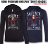 NEW Premium Ringspun T-Shirt Hoodies!