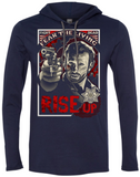 long sleeve hooded t-shirt (lightweight) - RISE UP, Rick Grimes