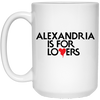 Alexandria Is For Lovers Coffee Mugs