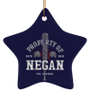 Property of Negan Christmas Ornaments