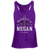 Property of Negan - Juniors Racerback Tank