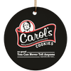 Carols Cookies Christmas Ornaments
