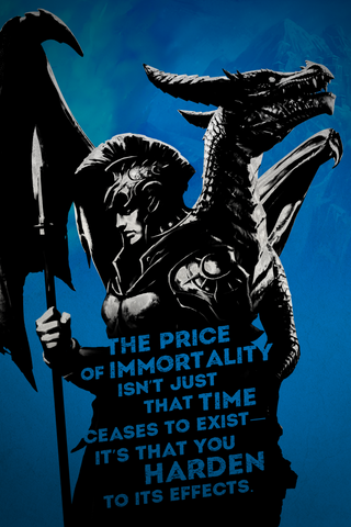 "War Dragons: All Things Burn ""Price of Immortality"" - 16.5""x23.4"" Poster"