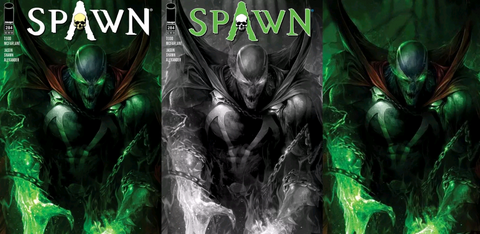 04/04/2018 SPAWN #284 COVER SET (A,B, C VIRGIN) MATTINA