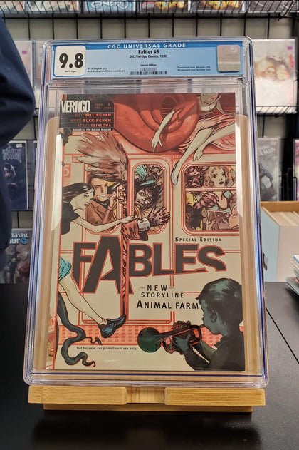9.8 CGC BLUE LABEL FABLES #6 SPECIAL PROMOTIONAL EDITION WRAPAROUND 2002