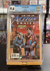 9.6 CGC Blue Label Action Comics #869 (Recalled due to beer label on cover) 2008