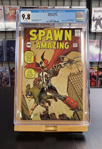 9.8 CGC Blue Label Spawn #221 Amazing Fantasy Cover Homage 2012