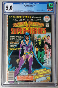 5.0 CGC DC Super-Stars #17 Marriage of Earth II Batman & Catwoman Origin of Green Arrow & Huntress 1977