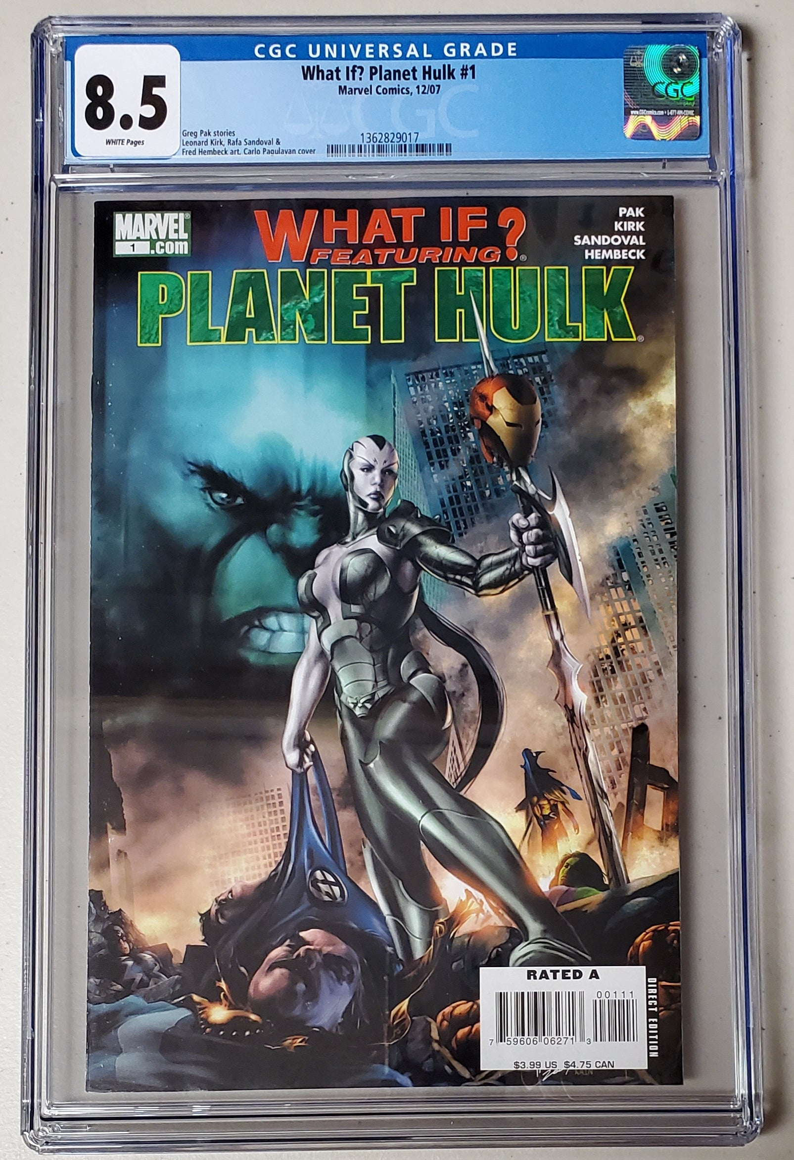 8.5 CGC What If?  Planet Hulk #1 (1st Cameo Skaar) 2007