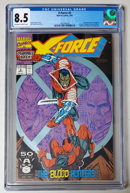 8.5 CGC X-Force #2 (2nd App Deadpool) 1991