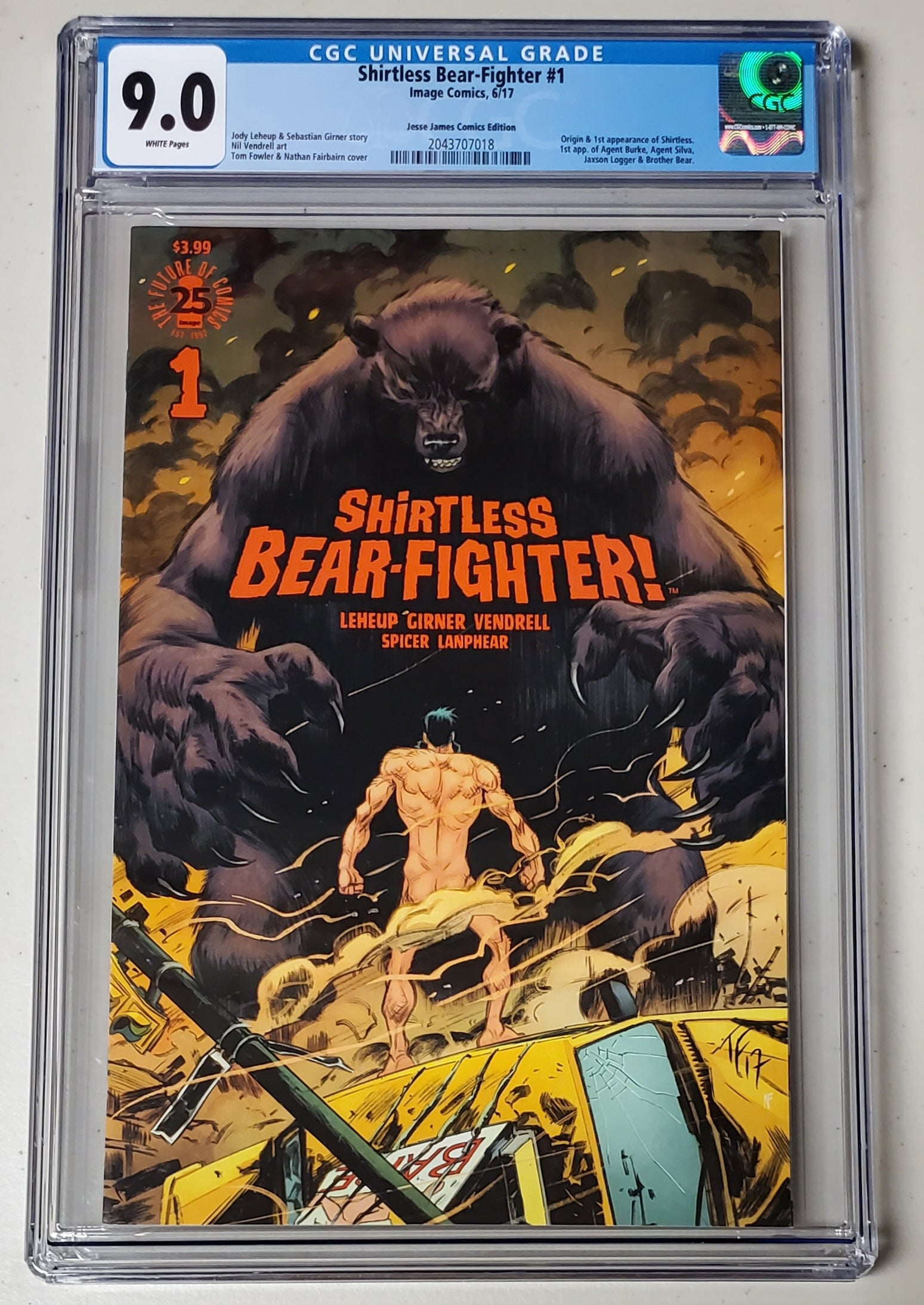 9.0 CGC Shirtless Bear Fighter #1 Variant