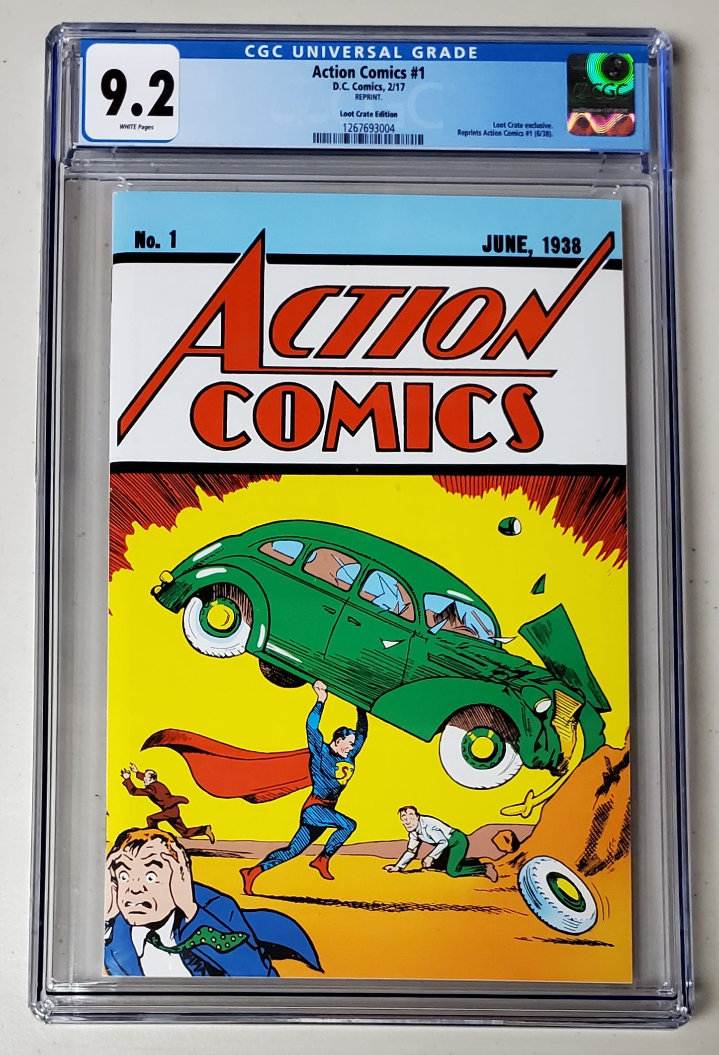 9.2 CGC Action Comics #1 Loot Crate Variant Reprint DC 2017