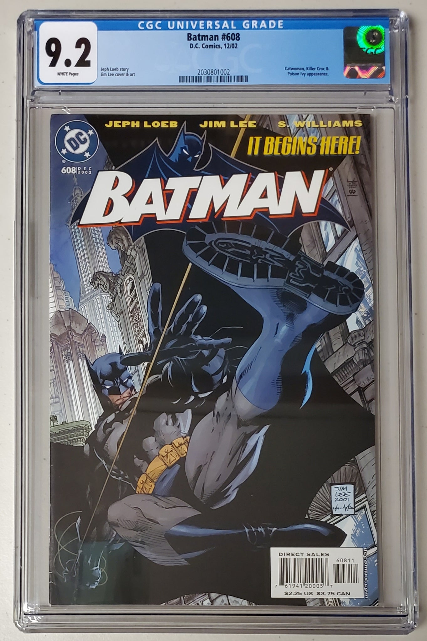 9.2 CGC Batman #608 Jim Lee Hush DC Comics 2002