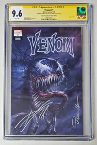 9.6 CGC Signature Series Venom #1 Variant Double Signed Cates & Parrillo 2018
