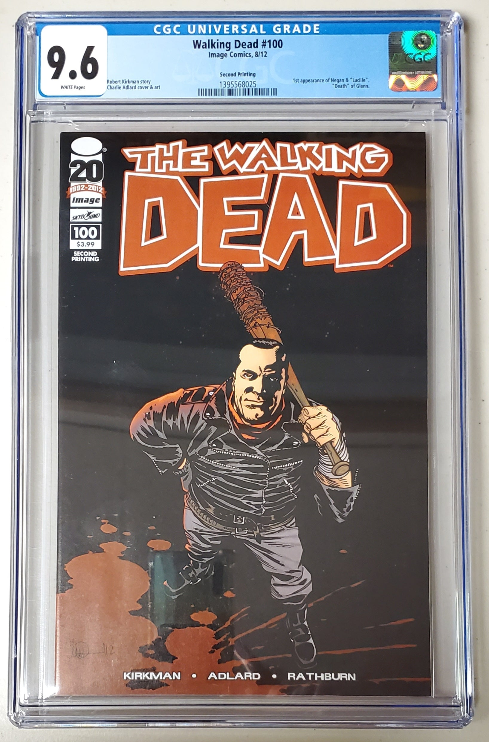 9.6 CGC Walking Dead #100 2nd Print (1st App Negan) 2012