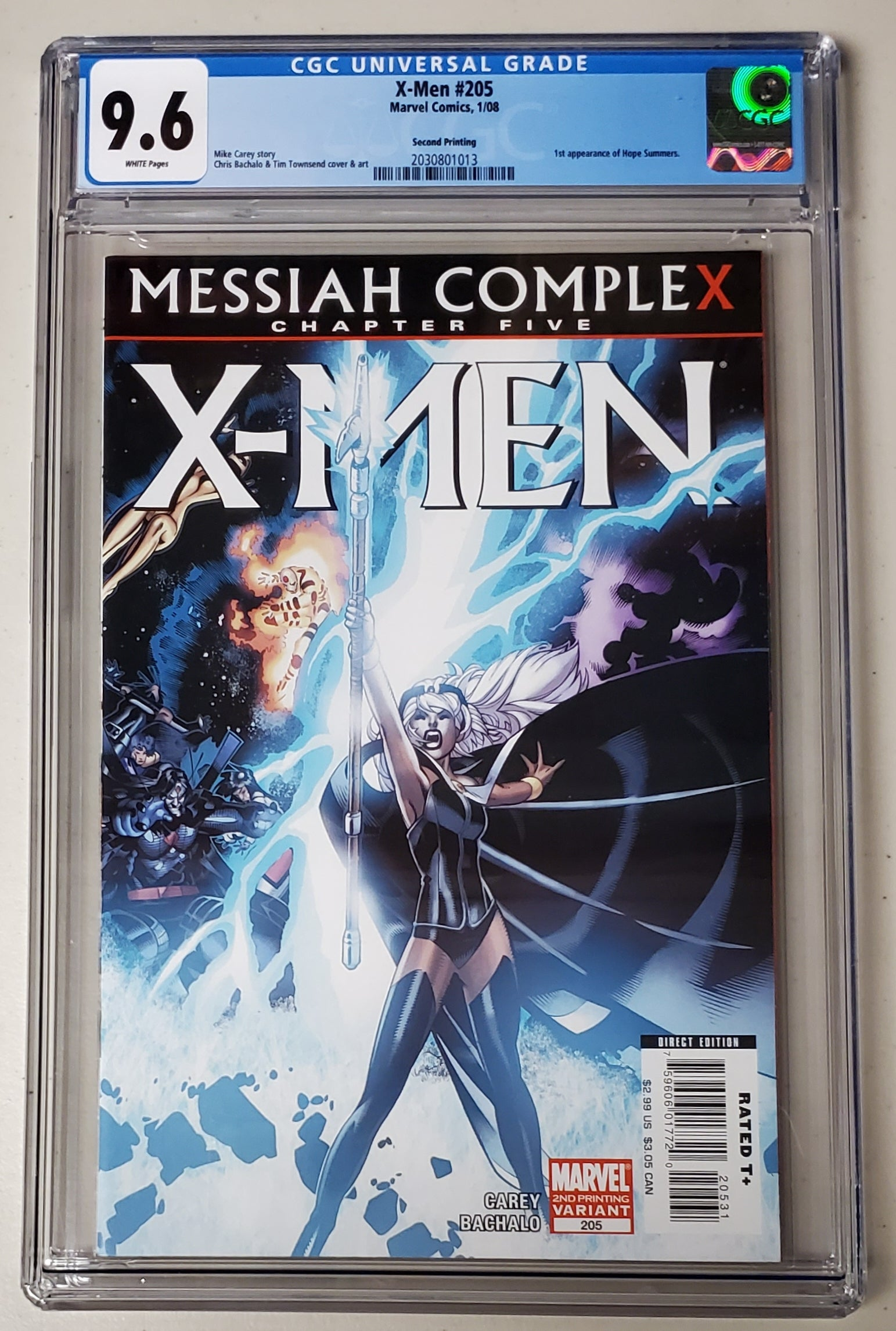 9.6 CGC X-Men #205 2nd Print Variant 1st App Hope Summers Marvel Comics 2008