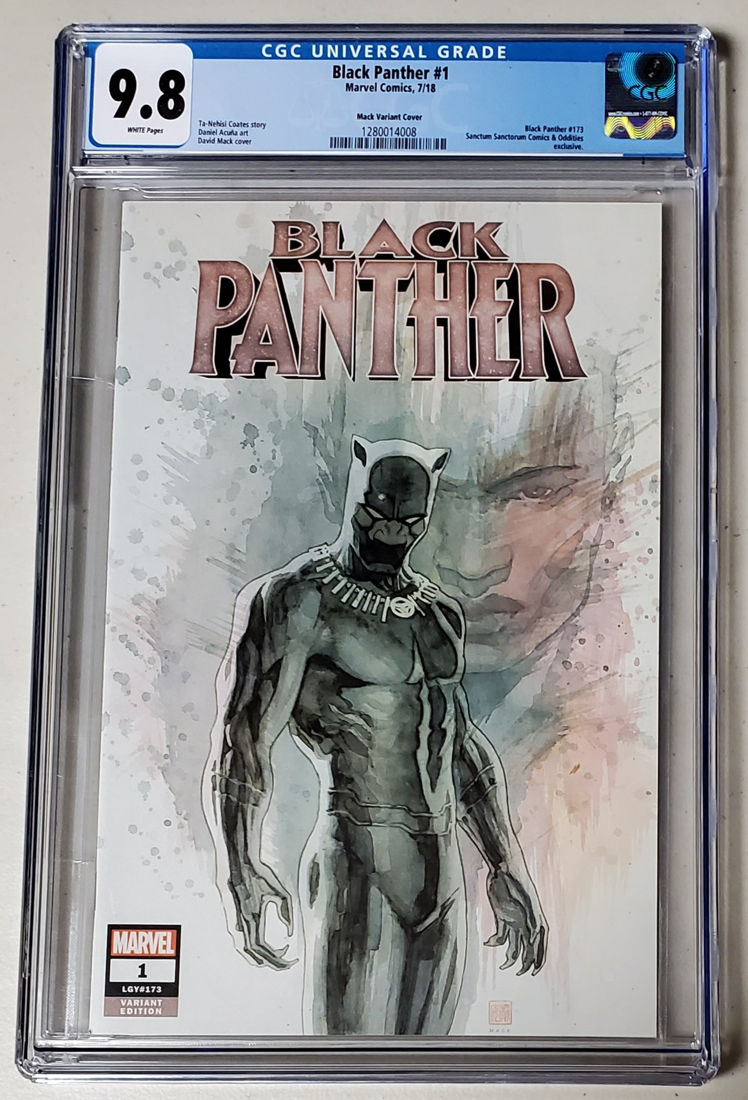 9.8 CGC Black Panther #1 SSCO David Mack Variant 2018