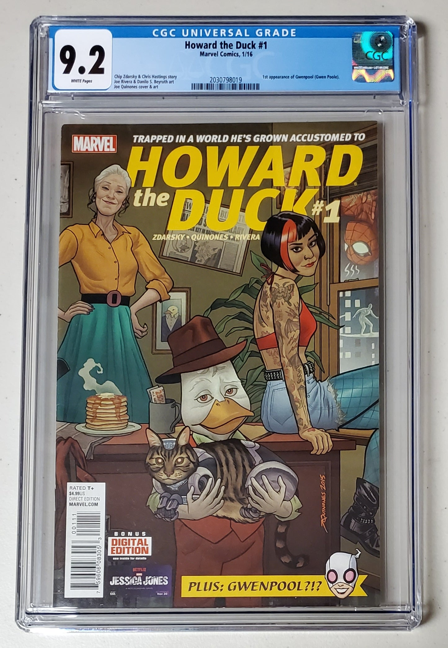9.2 CGC Howard the Duck #1 (1st App Gwenpool) 2016