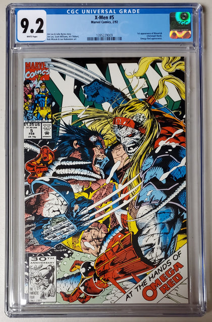 9.2 CGC X-Men #5 (1st App Maverick) 1992