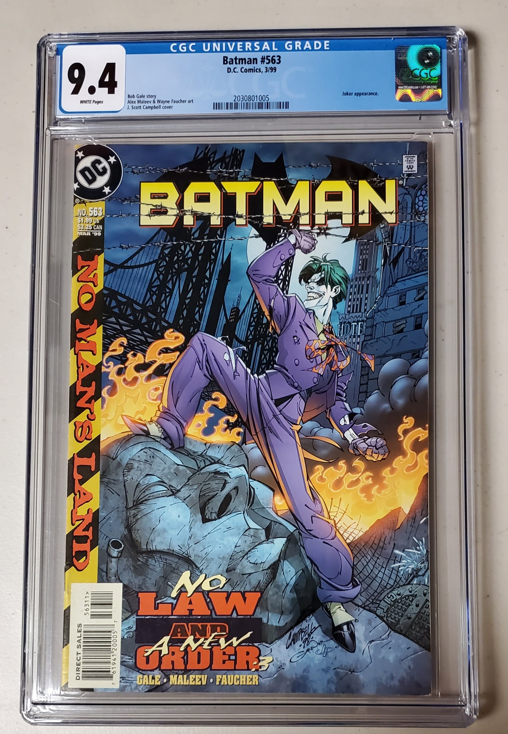 9.4 CGC Batman #563 J Scott Campbell 1999