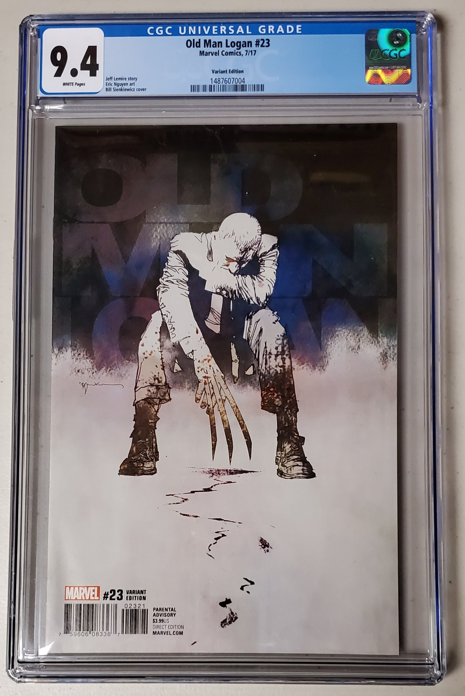 9.4 CGC Old Man Logan #23 Bill Sienkiewicz 1:25 Variant 2017