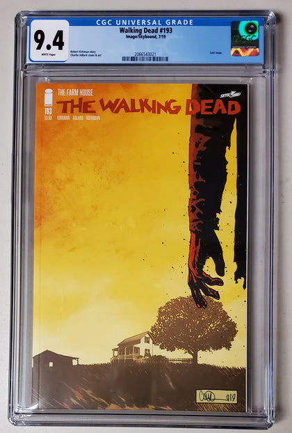 9.4 CGC Walking Dead #193 1st Print Last Issue 2019