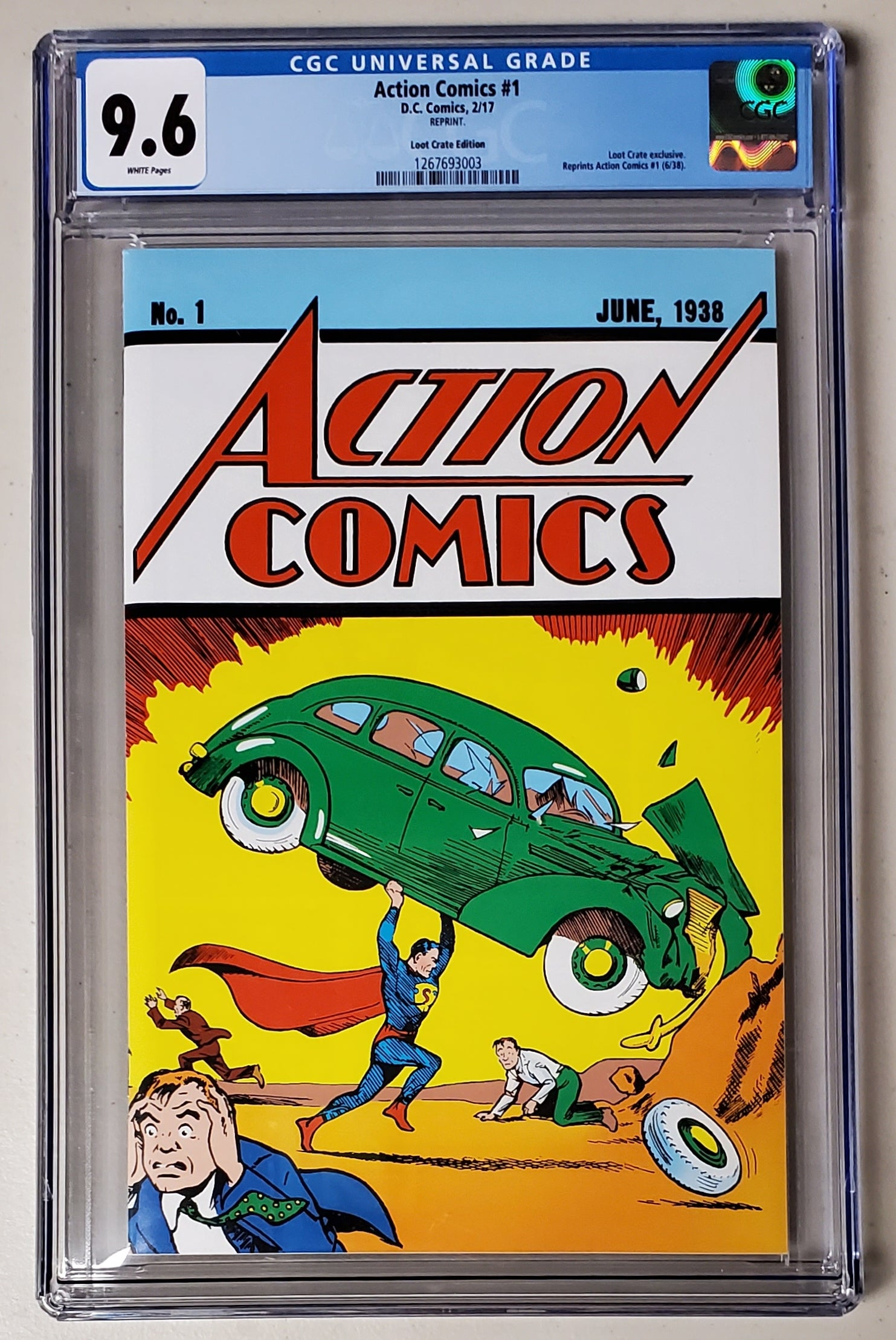9.6 CGC Action Comics #1 Loot Crate Variant Reprint DC 2017