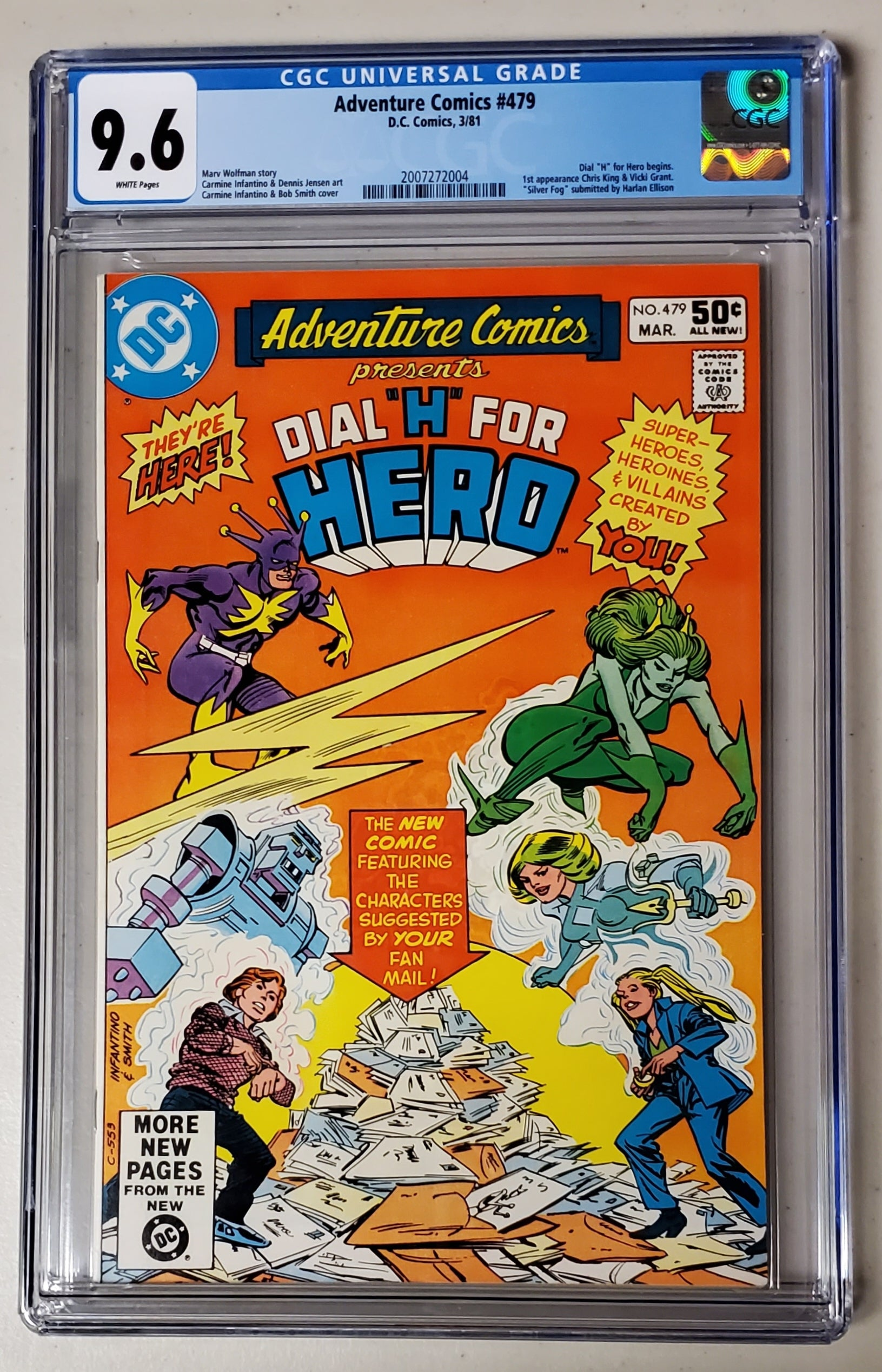 9.6 CGC Adventure Comics #479 (Dial H for Hero Begins) 1981