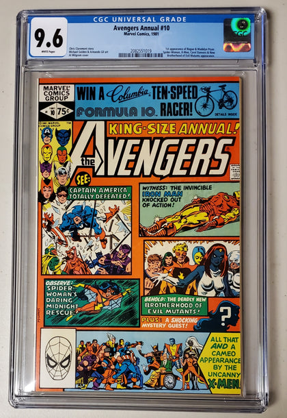 9.6 CGC Avengers Annual #10 (1st Rogue & Madelyn Pryor) 1981