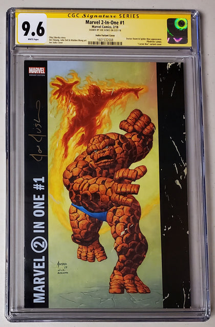 9.6 CGC SS Marvel 2-In-One #1 Corner Box Variant Signed by Joe Jusko 2018