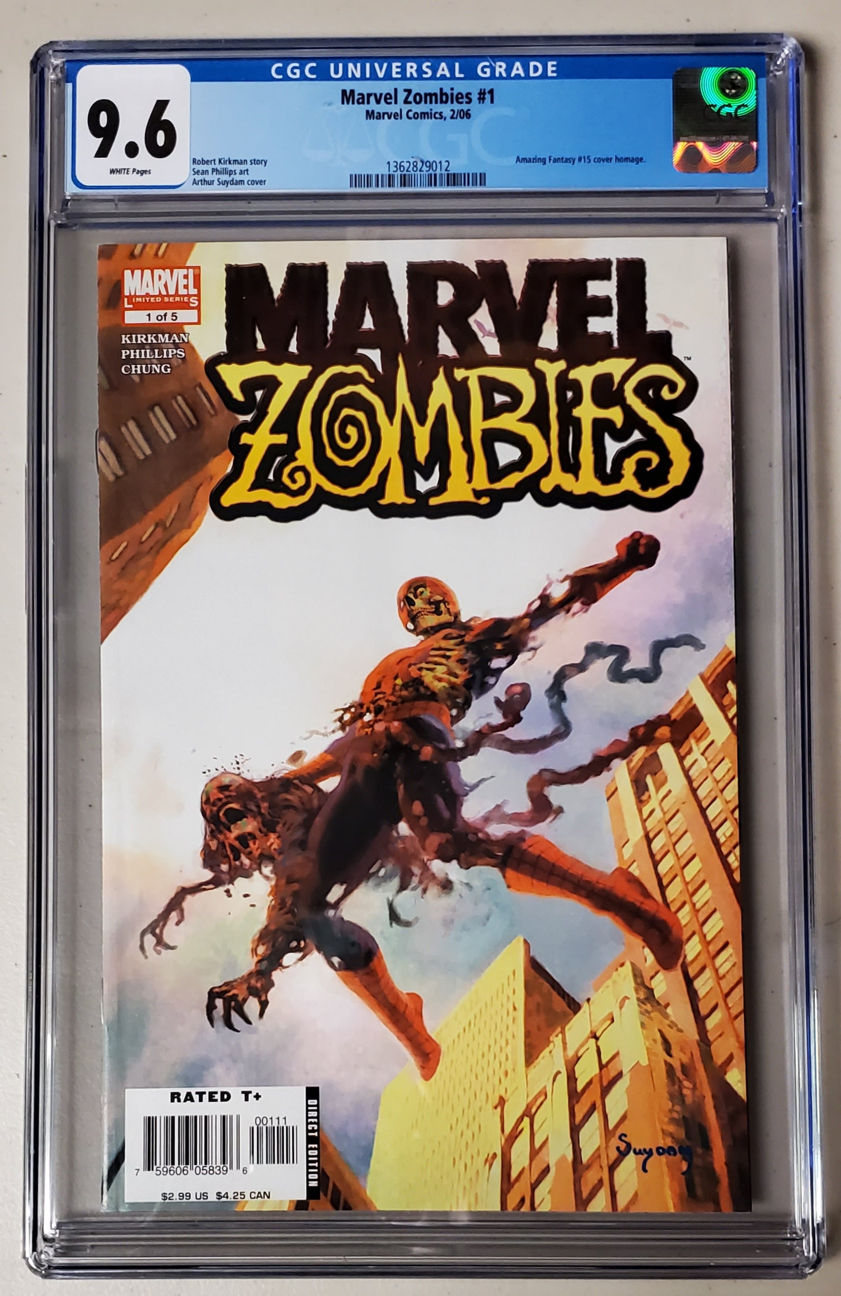 9.6 CGC Marvel Zombies #1 (AF #15 Homage) 2006 (BF)