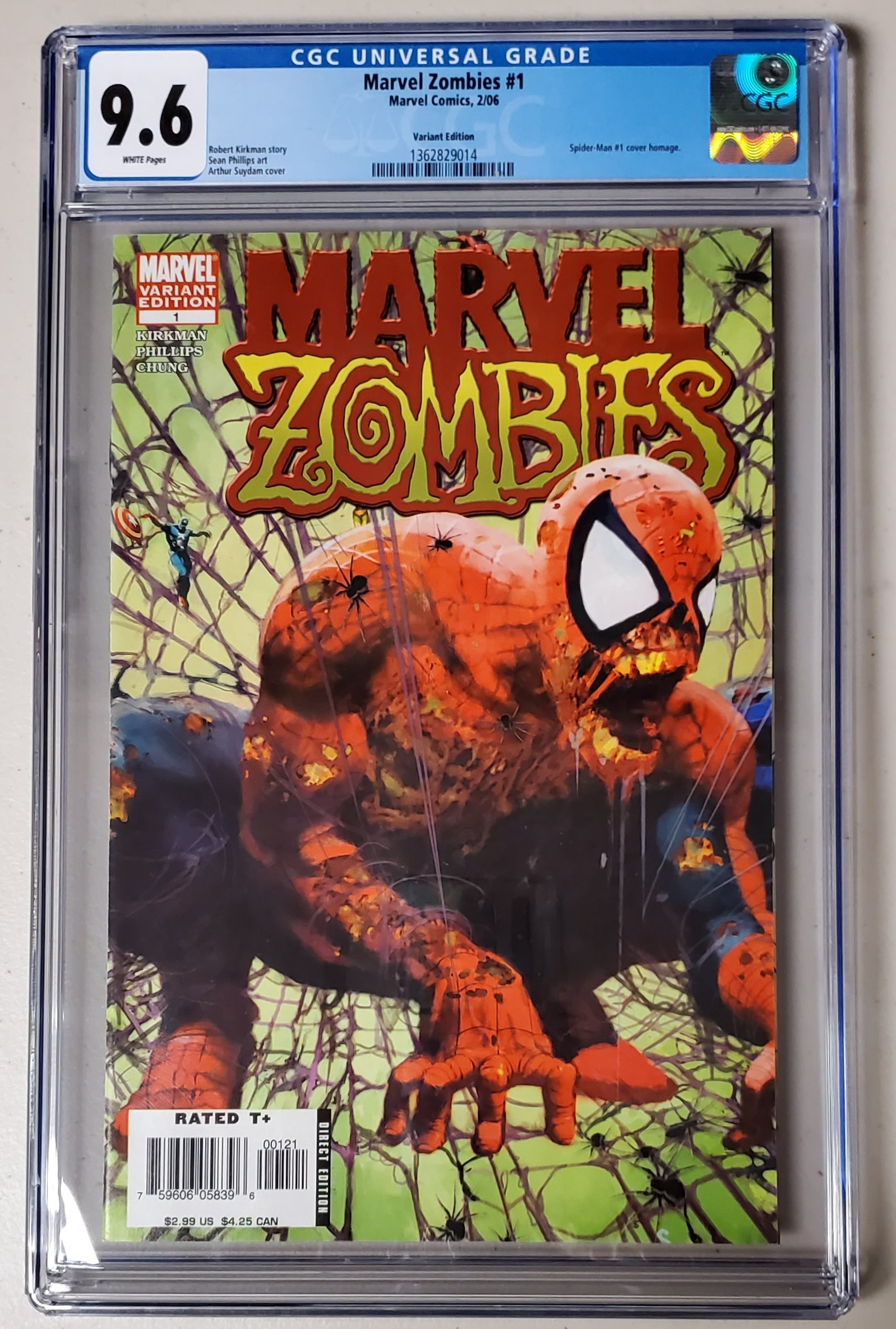 9.6 CGC Marvel Zombies #1 Variant (Spider-Man #1 Homage) 2006