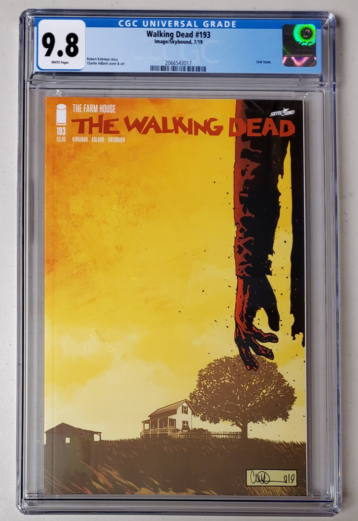9.8 CGC Walking Dead #193 1st Print Last Issue 2019