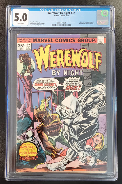 5.0 CGC Werewolf By Night #32 (1st App Moon Knight) 1975
