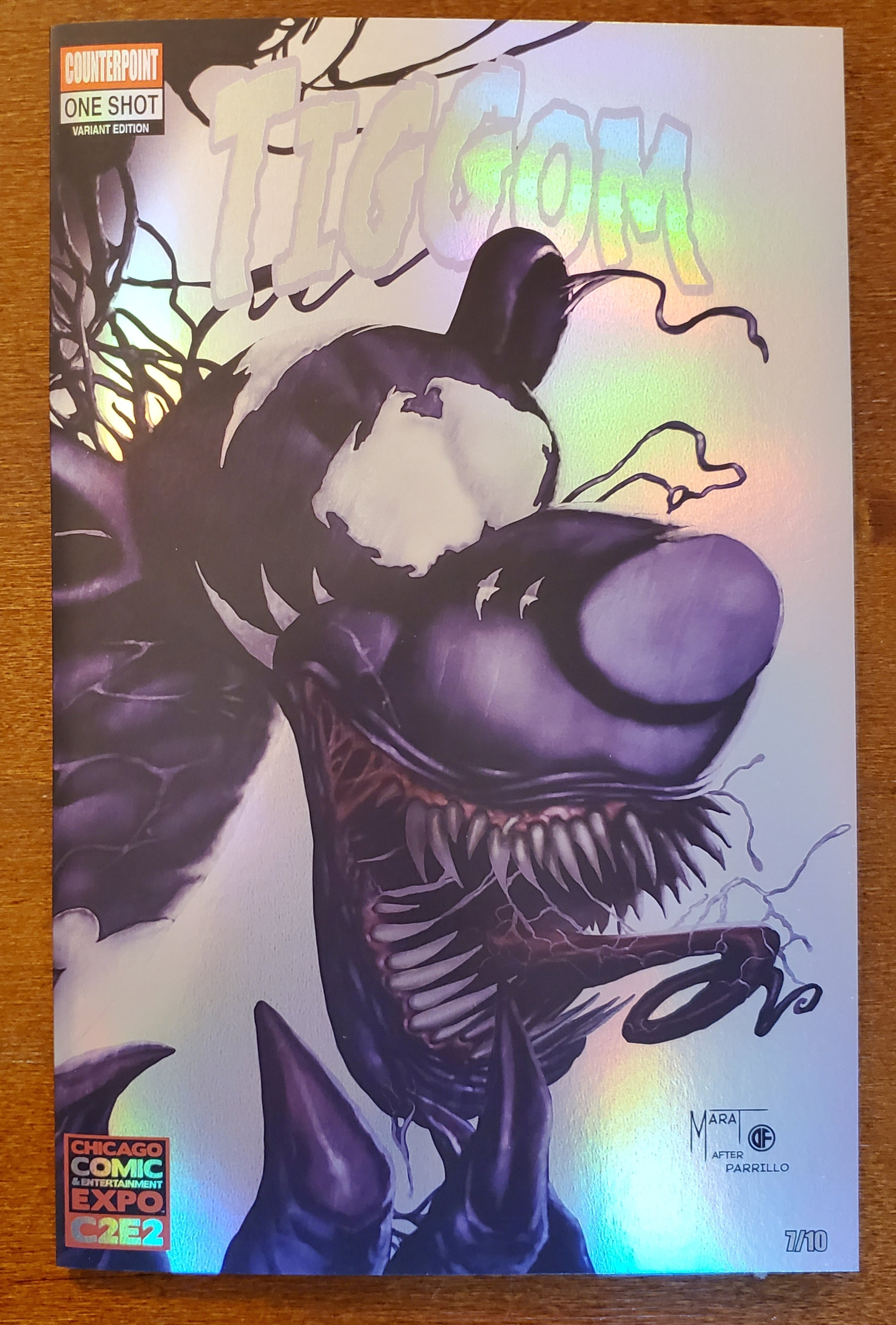 Tiggom (Do You Pooh) One Shot CHROME Venom Parrillo Homage C2E2 Convention Exclusive Variant (Limited to 10)