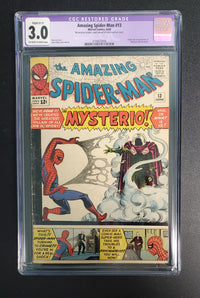 3.0 CGC PURPLE Label Amazing Spider-Man #13 (1st Mysterio) 1964
