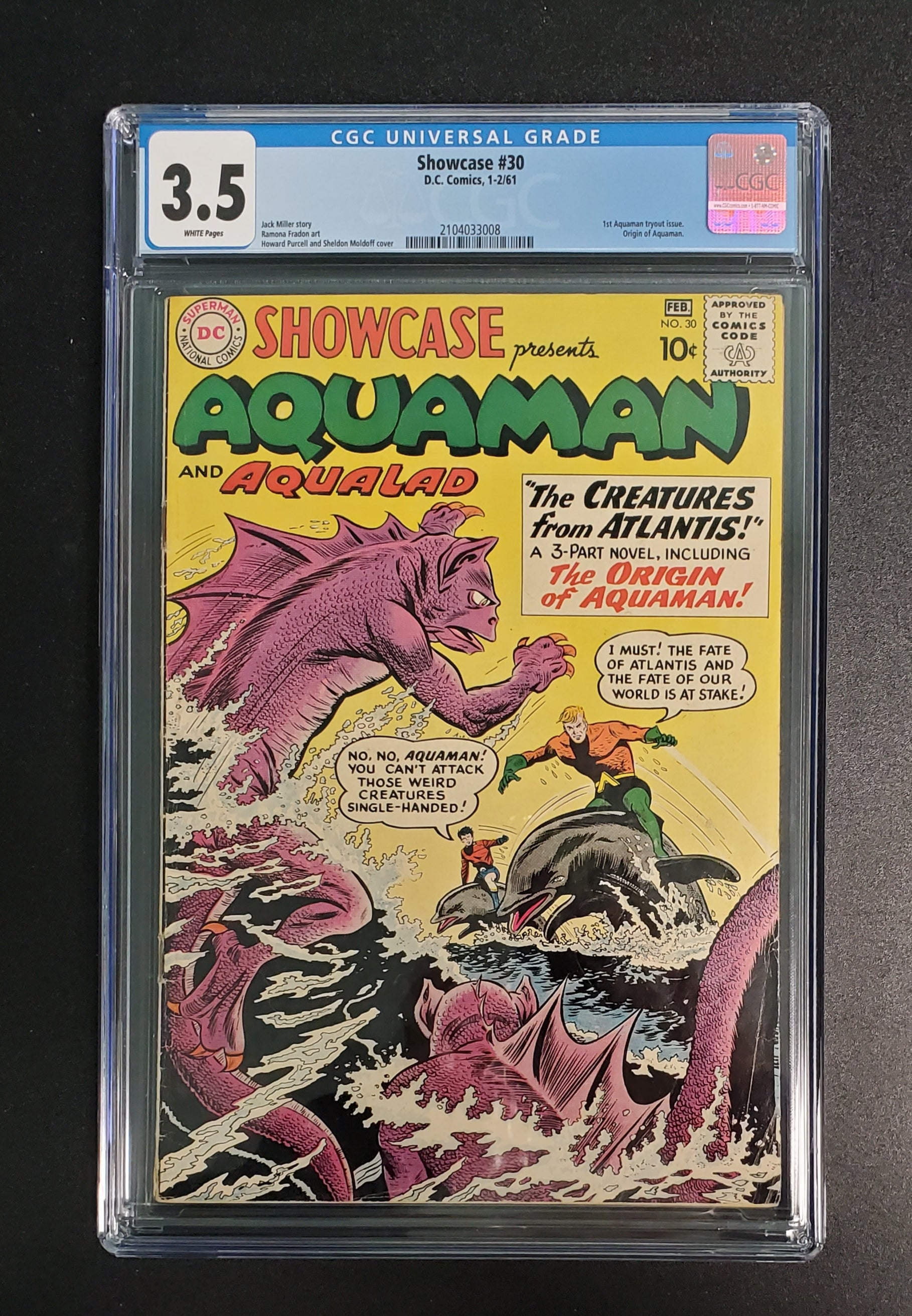 3.5 CGC Showcase #30 (1st Aquaman Tryout Issue.  Origin of Aquaman)1961