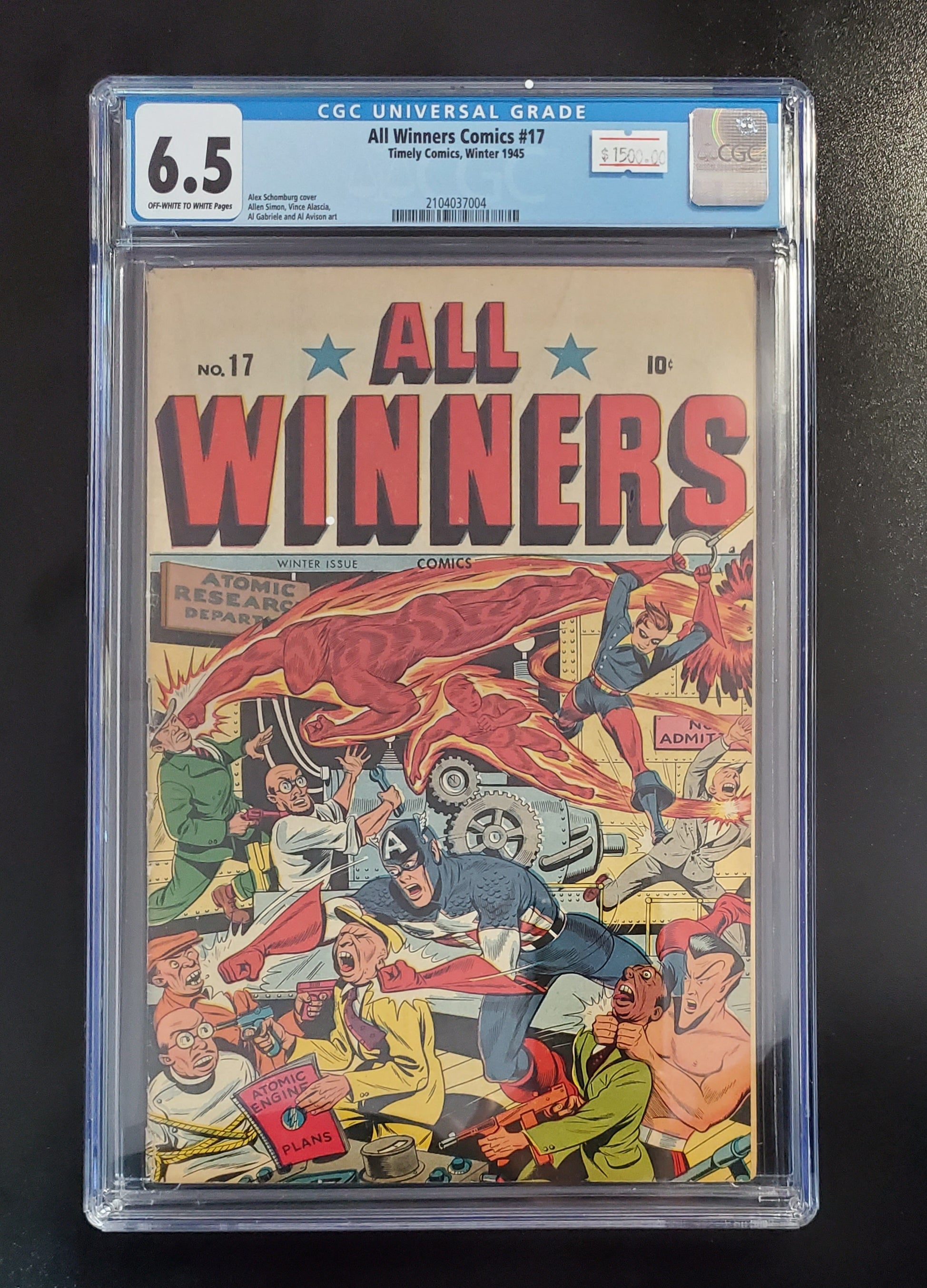 6.5 CGC All Winners Comics #17 1945