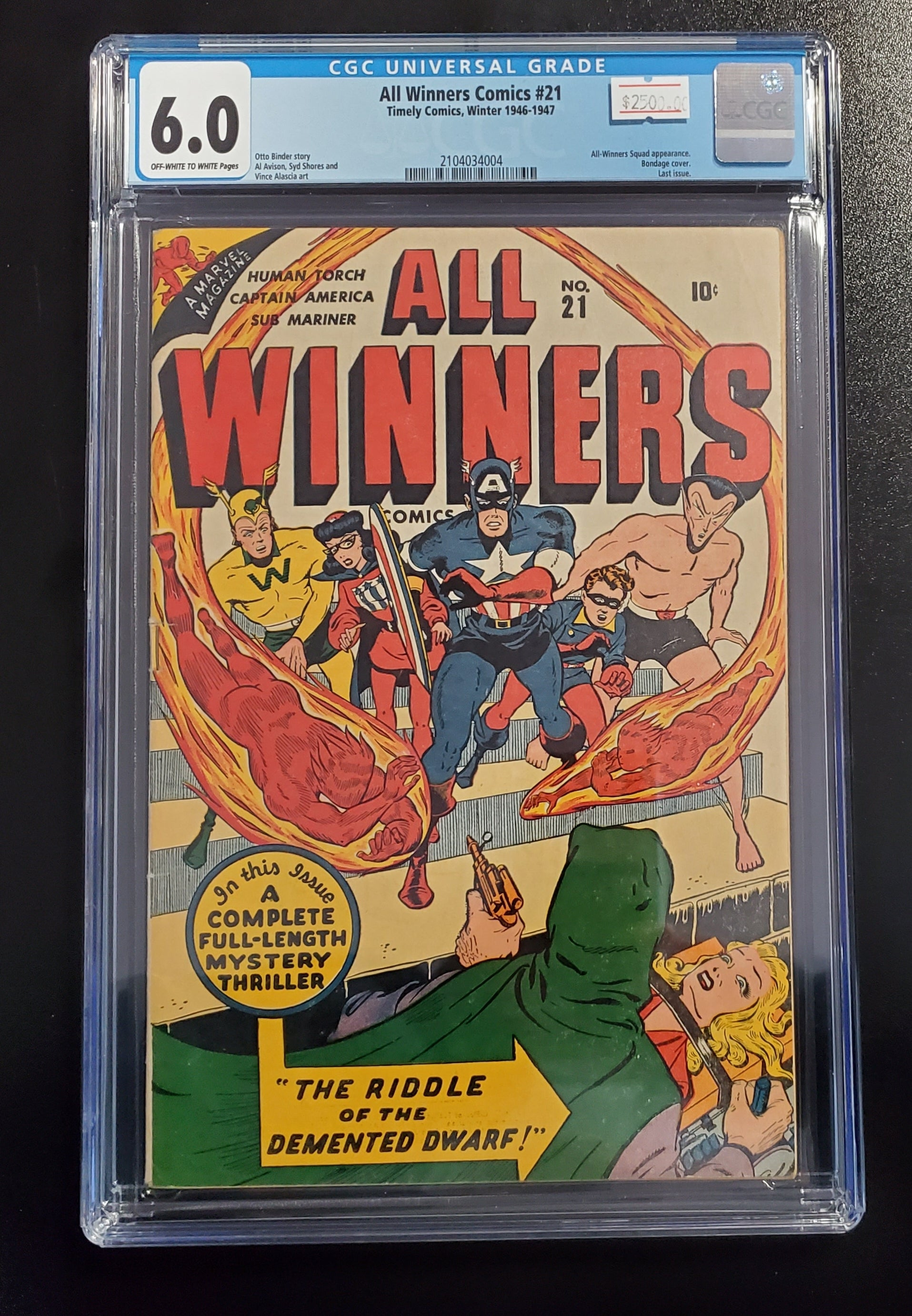 6.0 CGC All Winners Comics #21 1946-1947