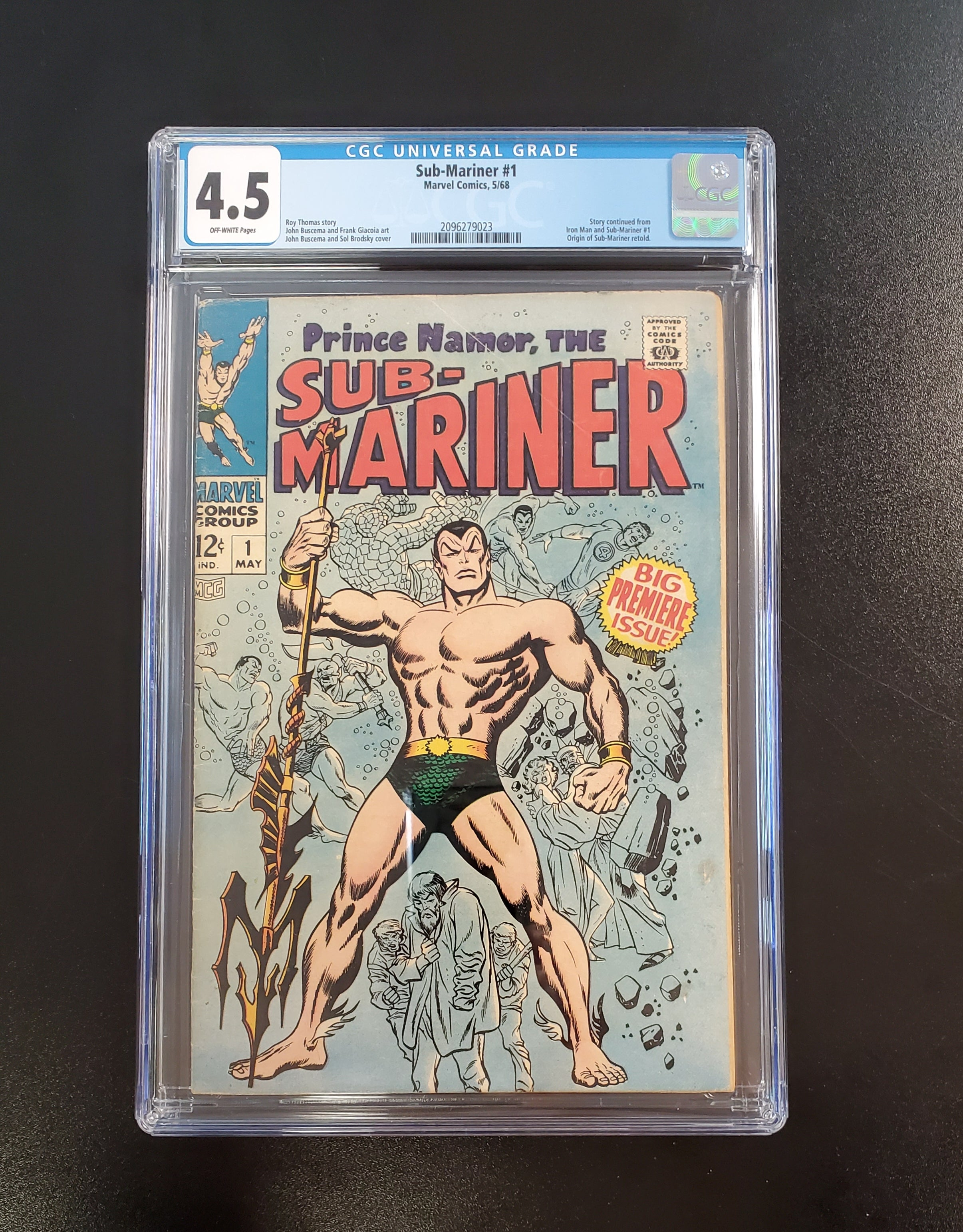 4.5 CGC Sub-Mariner #1 (Origin of Sub-Mariner Retold) 1968