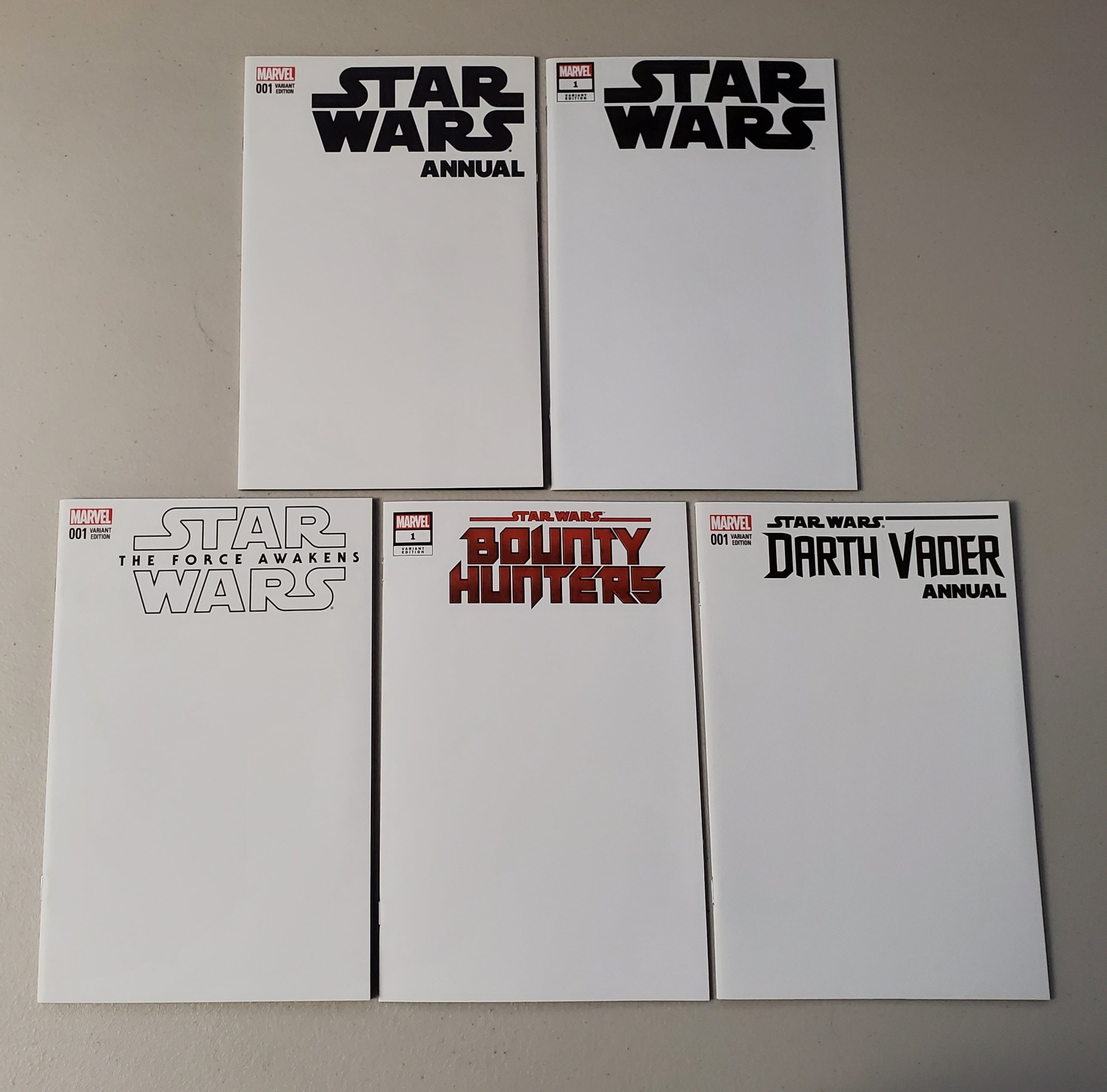 STAR WARS BLANK SKETCH COVER LOT
